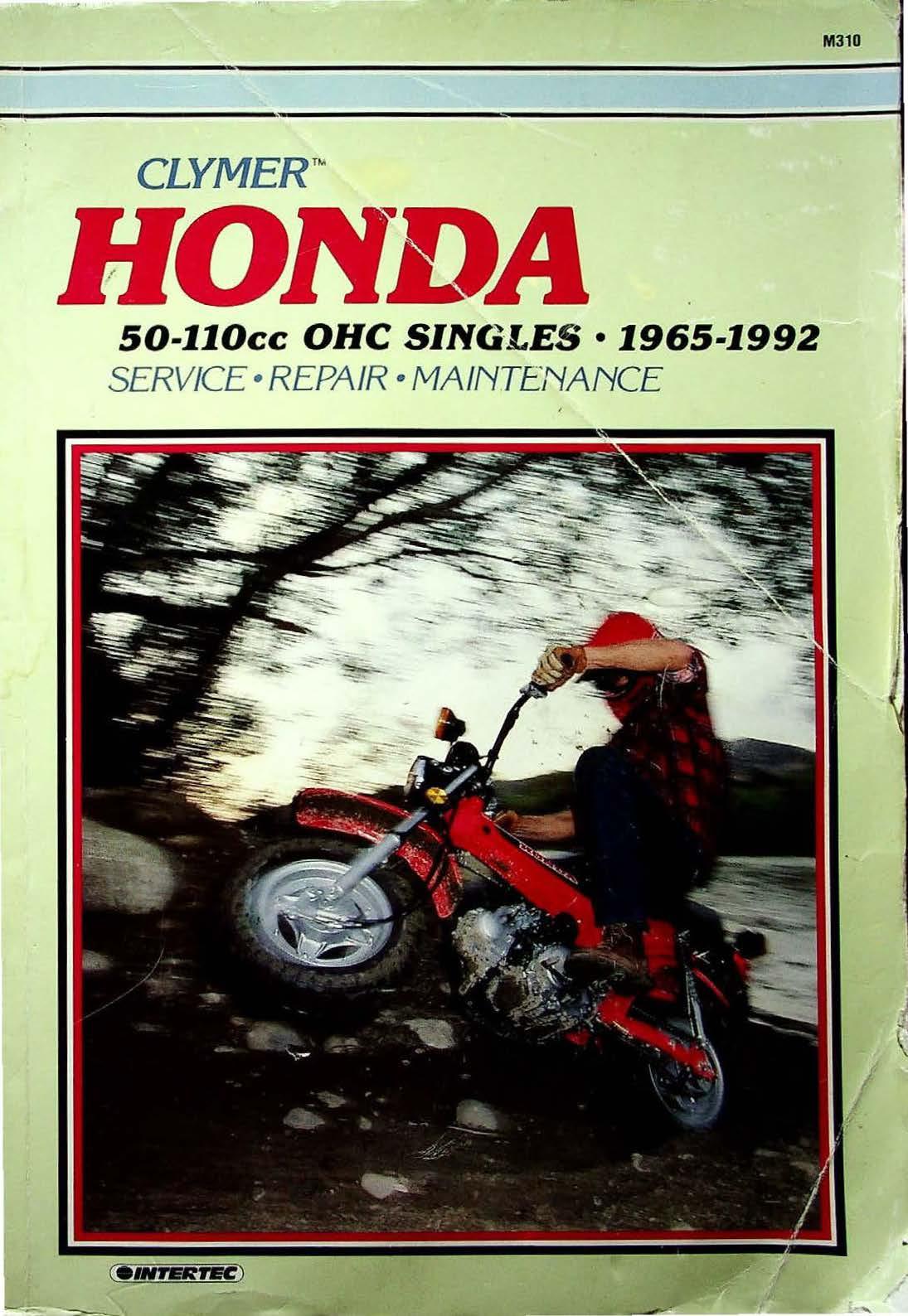 Clymer Honda 50-110cc ohc singles (1965-1992) Workshop Manual