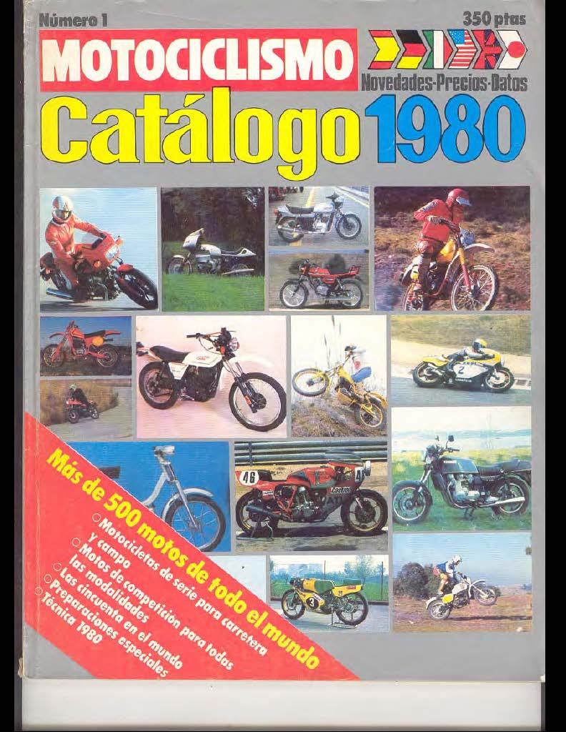 Motociclismo Catalogo (1980) (Spanish)