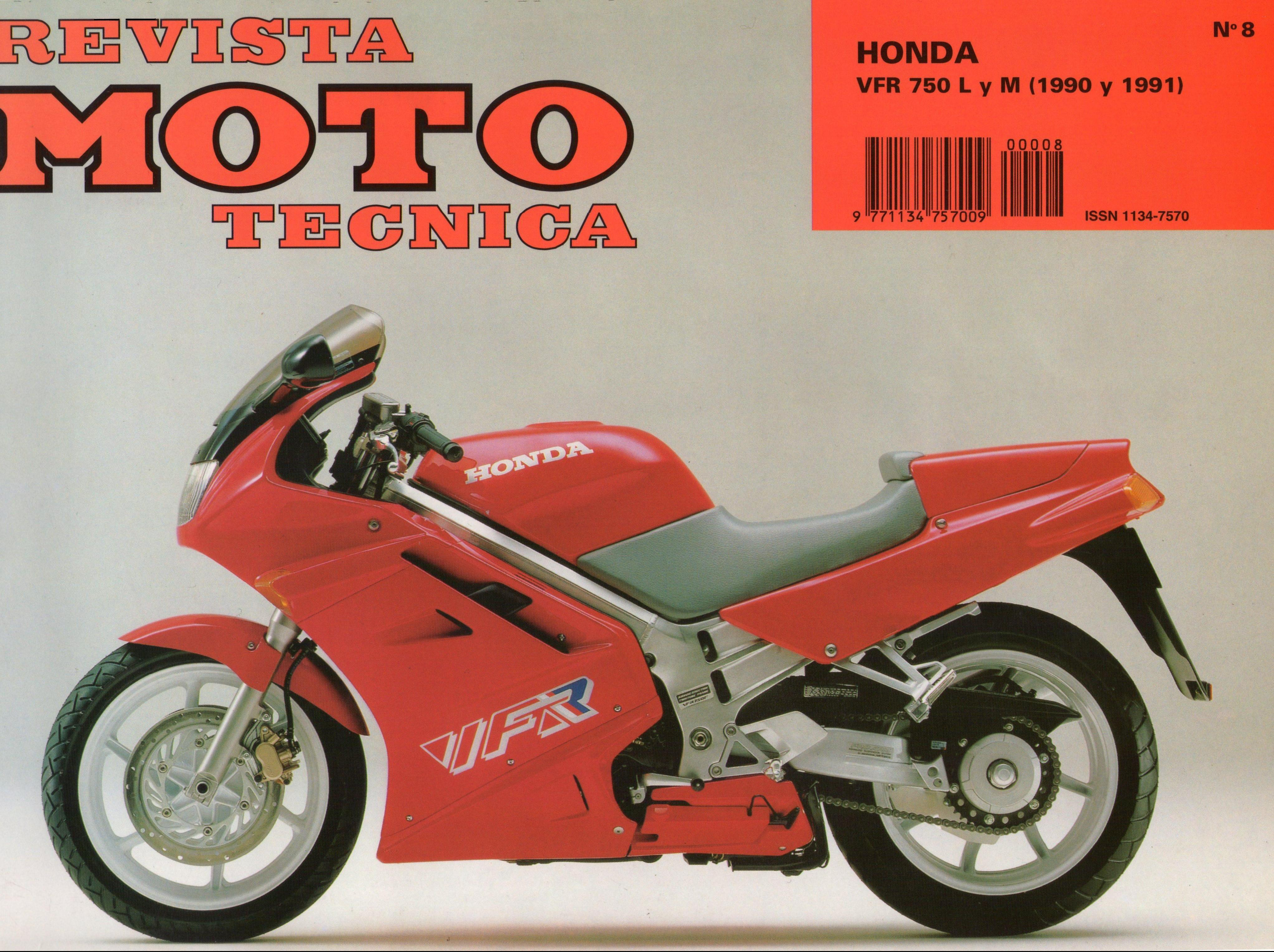 Revista Moto Technica for Honda VFR750M (1991) (Spanish)