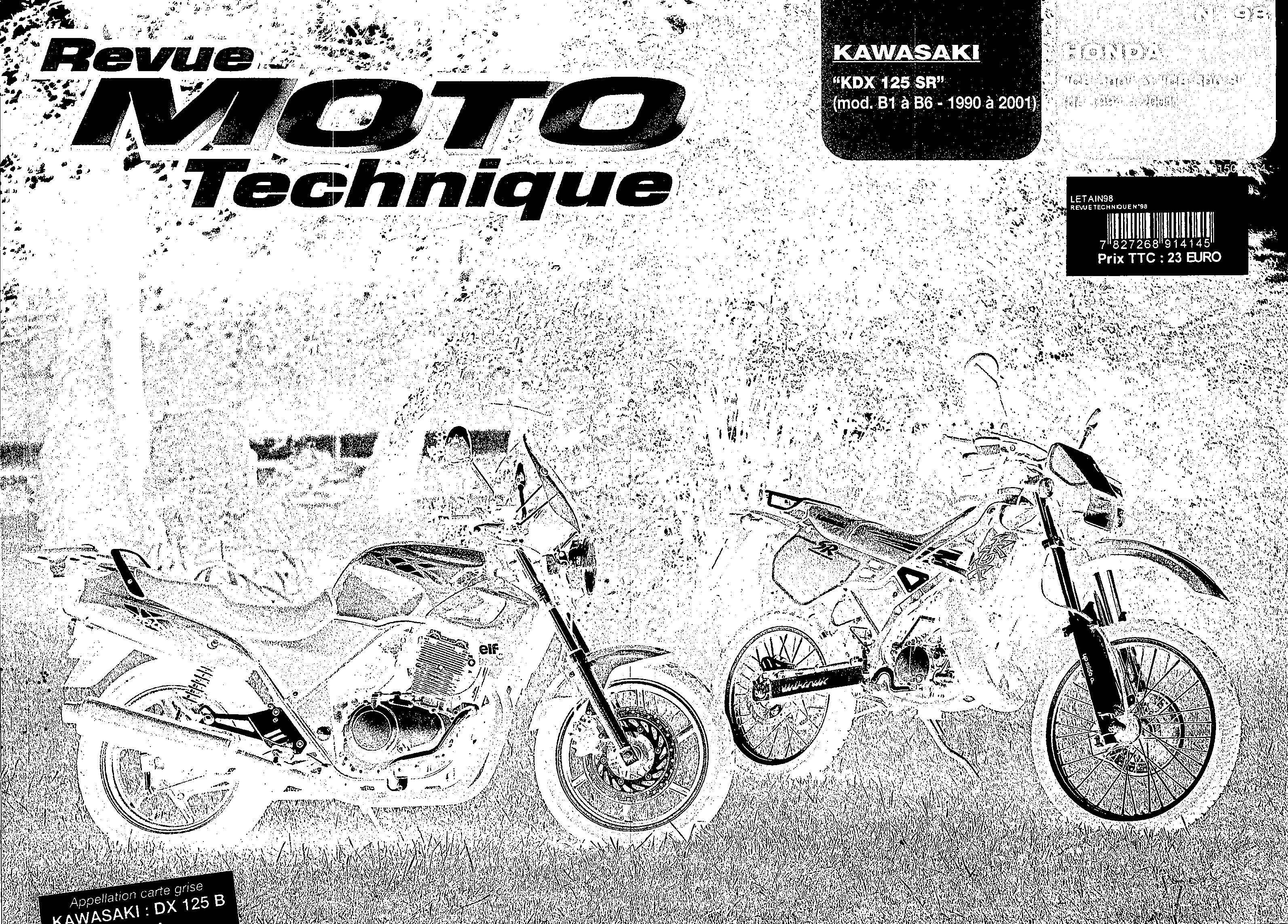 Revue moto technique - no. 98 for Honda CB500V PC32C (1997) (French)