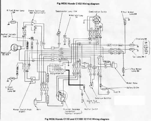 Honda C110D Wiring Schematic