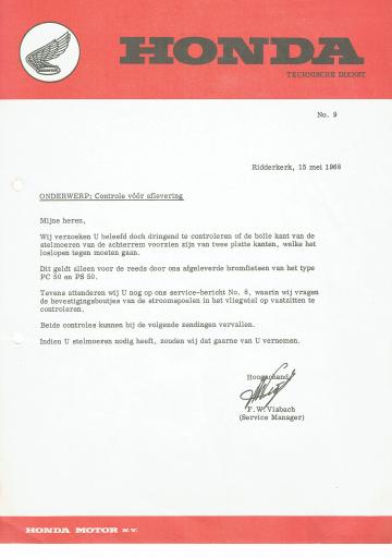 Servicebulletin 09 (1968)