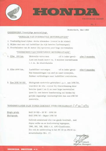 Servicebulletin 07 (1968)