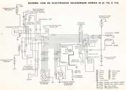 Honda C114 (Dutch) Wiring Schematic
