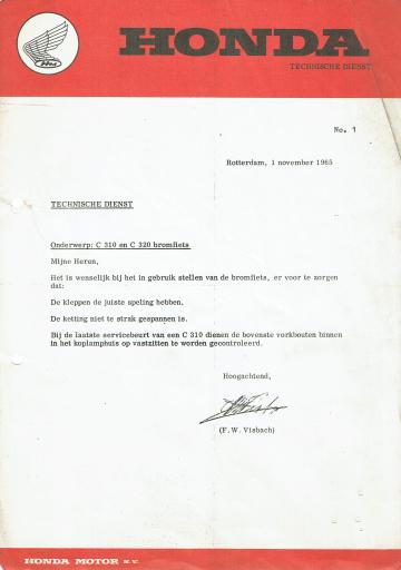 Servicebulletin 01 (1965)