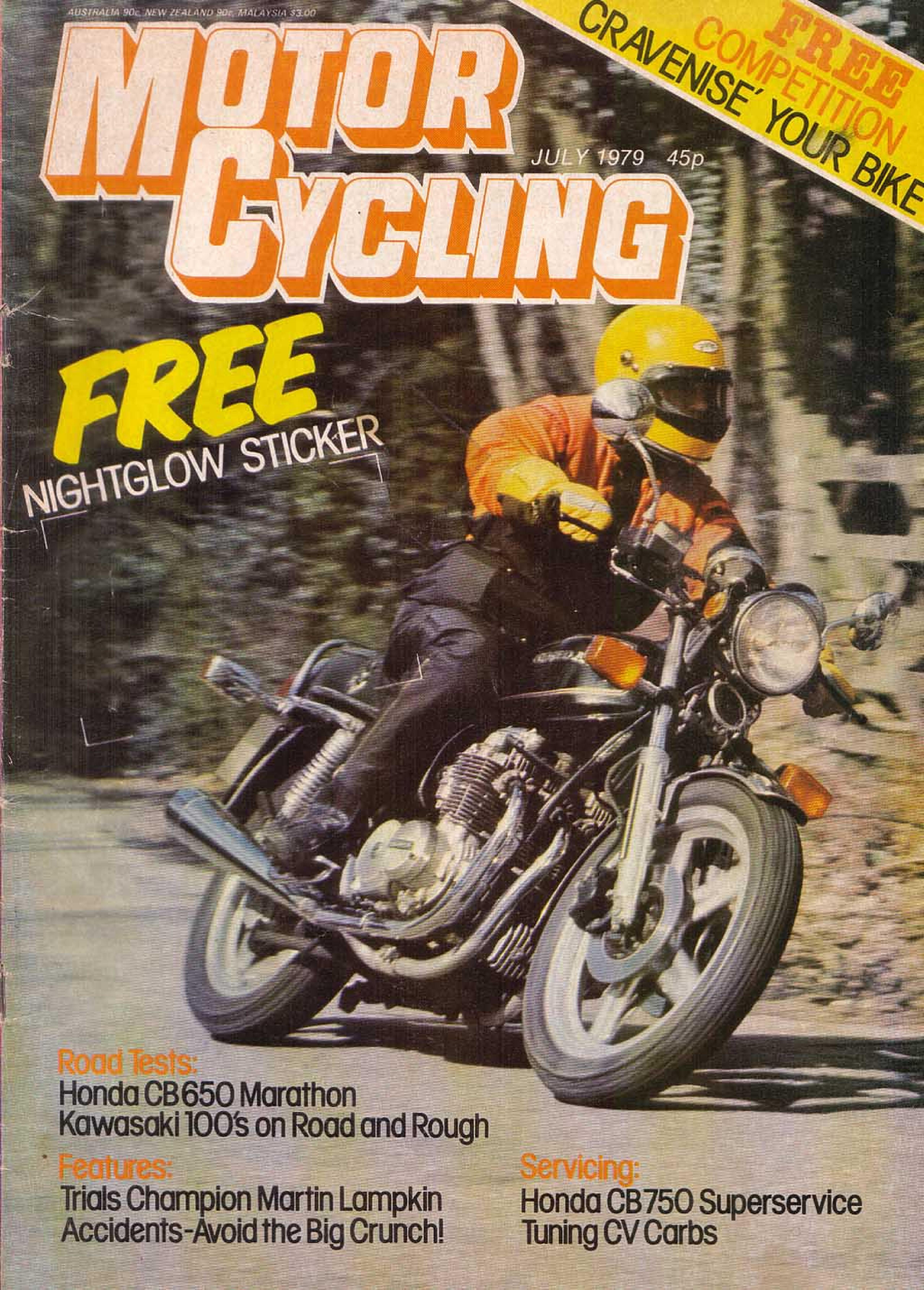 Motorcycling Magazine about Honda CB650 (July 1979)