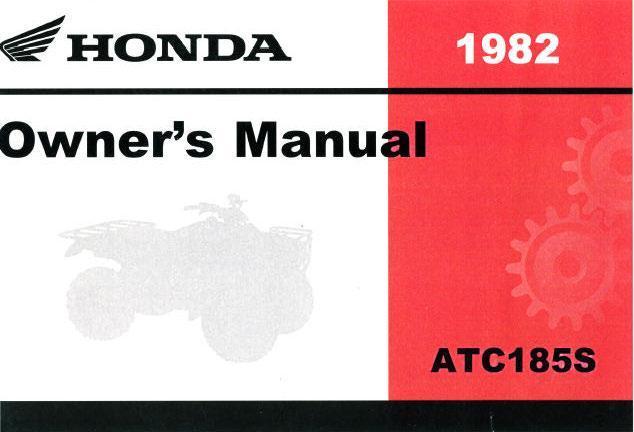 Honda ATC185S (1982) Owner's Manual