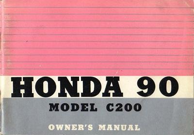 Honda C200 (1968) Owner's Manual