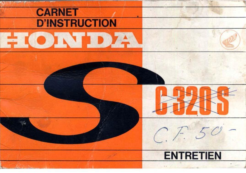 Honda C320 Owner's Manual (French) (1963)