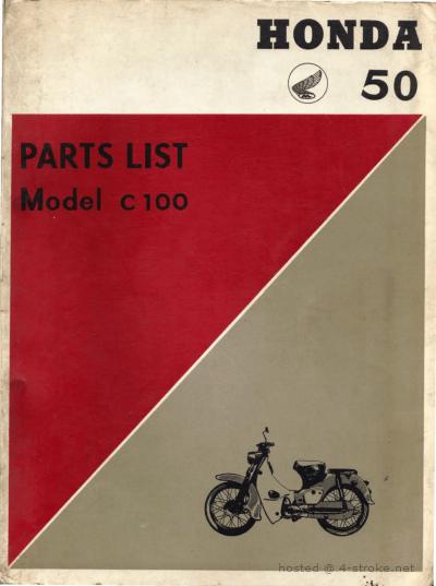 Parts list for Honda C100 (1960)
