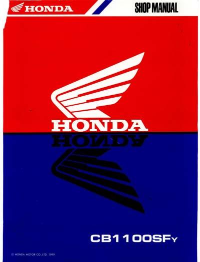 Workshop Manual for Honda CB1100SF (1999)